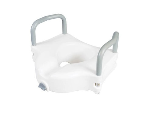 Raised Toilet Seat with Lock and Arms (1EA)