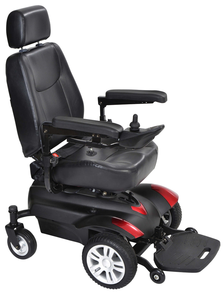 "Titan X16 16x16"" Captain Seat Full Back Standard Power Wheelchair"