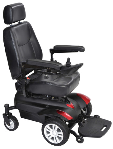"Titan X23 16x16"" Captain Seat Full Back Standard Power Wheelchair"