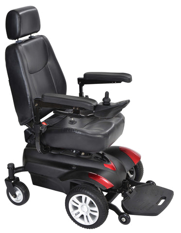 "Titan 18x16"" Captain Seat Full Back Transportable Power Wheelchair"