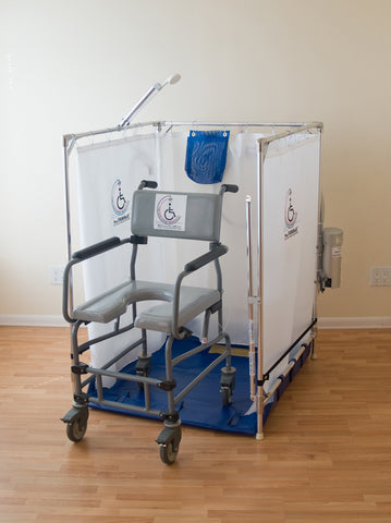 Handicapped Wheelchair Shower Stall (Made in the USA, 10-year warranty on frame)