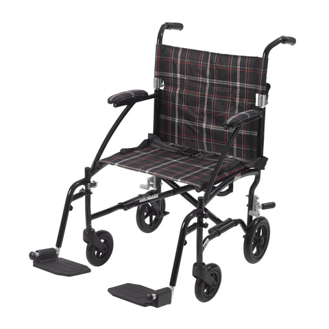 Fly Lite Ultra Lightweight Transport Wheelchair, Black