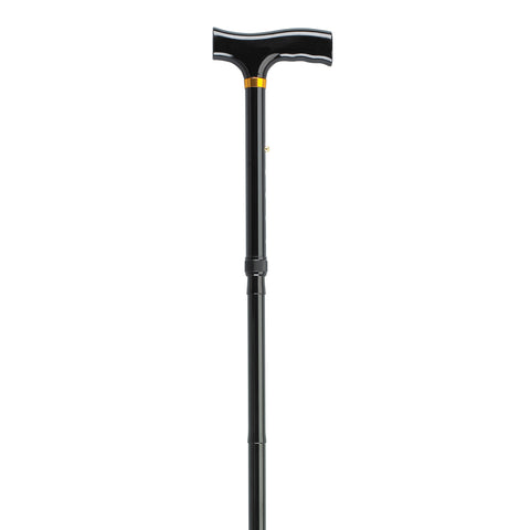 Lightweight Adjustable Folding Cane with T Handle, Black