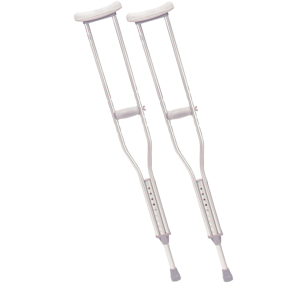 Walking Crutches with Underarm Pad and Handgrip, Adult, 1 Pair