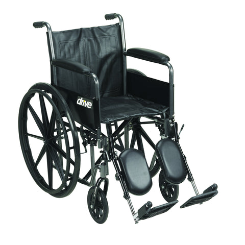 "Silver Sport 2 Wheelchair, Detachable Full Arms, Elevating Leg Rests, 20"" Seat"