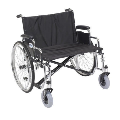 "Sentra EC Heavy Duty Extra Wide Wheelchair, Detachable Desk Arms, 28"" Seat"
