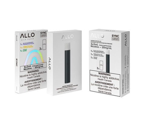 Allo Sync Starter Kit (3 Pods included 20mg only)