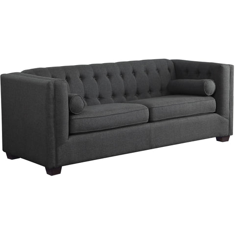 Carins Transitional Sofa (Also available in beige)