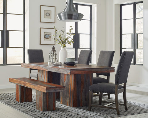Binghamton Solid Sheesham Wood Dining Set