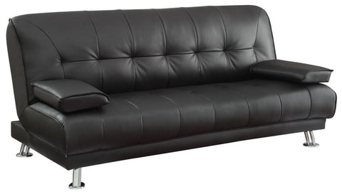 Jordan Black Leatherette Futon Sofa Bed