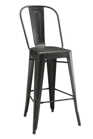 Industrial Black metal Bar Stool, Set of 2