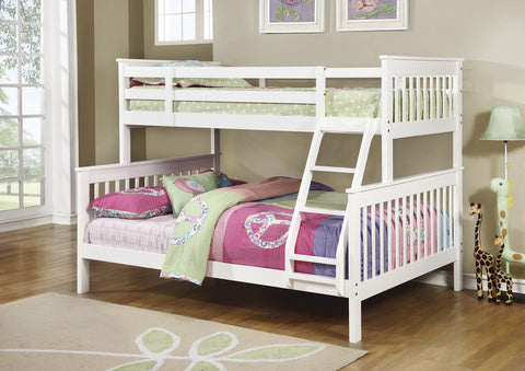 Chapman White Twin/Full Bunk Bed
