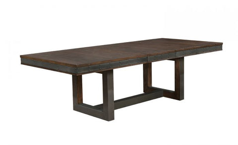 Bourbon Wire Brushed Extendable Dining Table