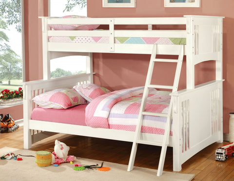 White Finish Twin/full Bunk Bed