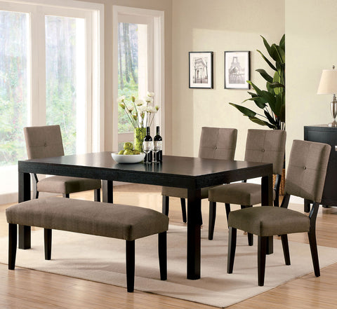 Contemporary Espresso Dining Table Collection