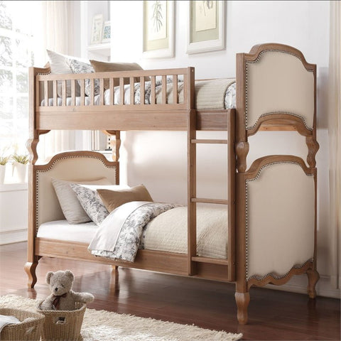 Salvage Oak Finish Twin/Twin Bunk Bed