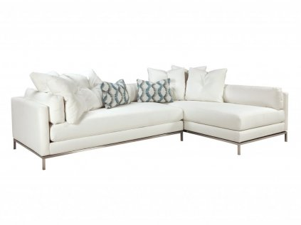 Avani Modern White Sectional (Choose Your Fabric)