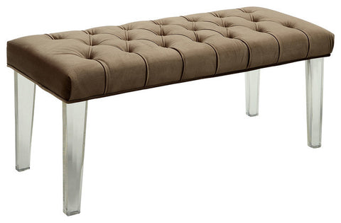 Ania Upholstered Bench With Acrylic Legs