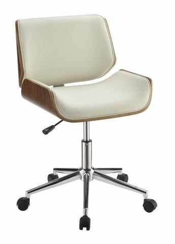 Contemporary Office Chair, Ecru