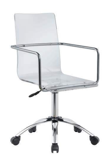 Fine Modern Clear Acrylic Desk Chair Spiritservingveterans Wood Chair Design Ideas Spiritservingveteransorg
