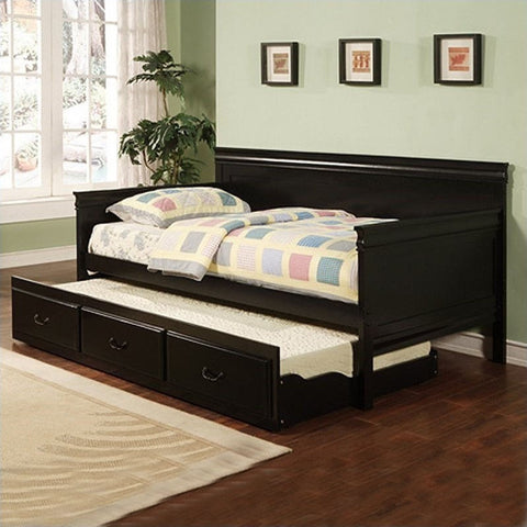 Louis Philippe Black Twin Daybed with Trundle