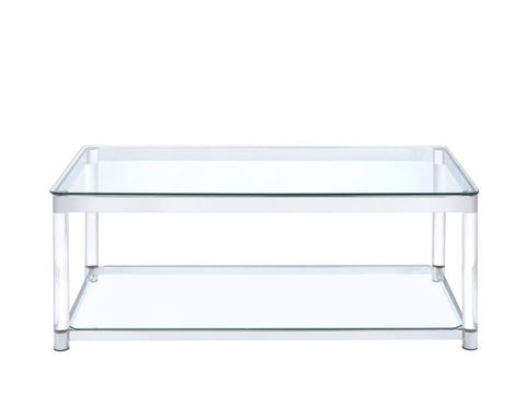 Contemporary Glass Top with acrylic legs Coffee Table