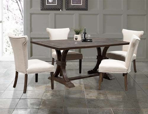Brown Weathered Dining table Set