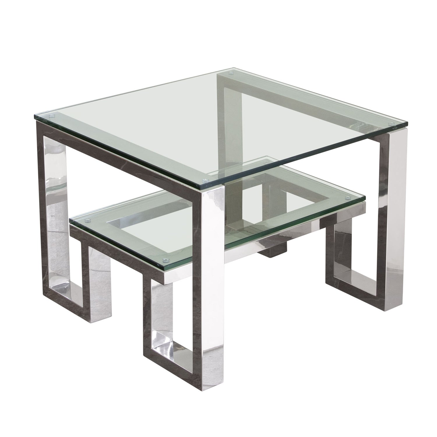 Carlsbad Console Table With Clear Glass Top With Shelf Interior  ~ Sofa Table With Glass Top