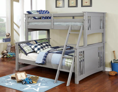 Gray Finish Twin/full Bunk Bed