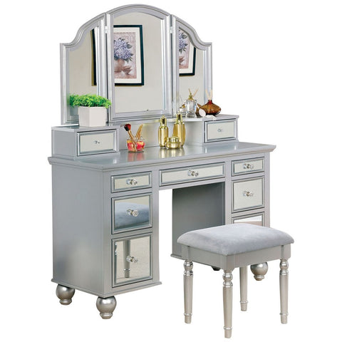 Tracy Vanity Table with Bench Set