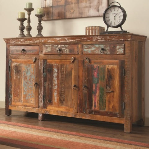 Reclaimed Wood Cabinet With Doors