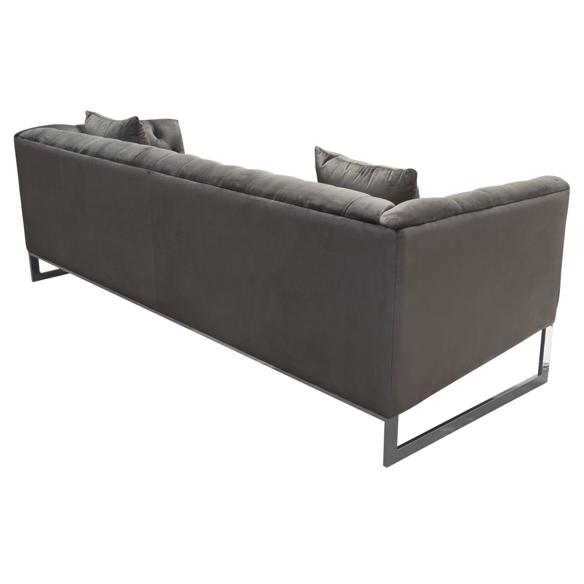 Crawford tufted sofa dusk grey