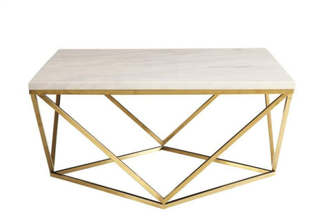 Dita Faux Marble Coffee Table