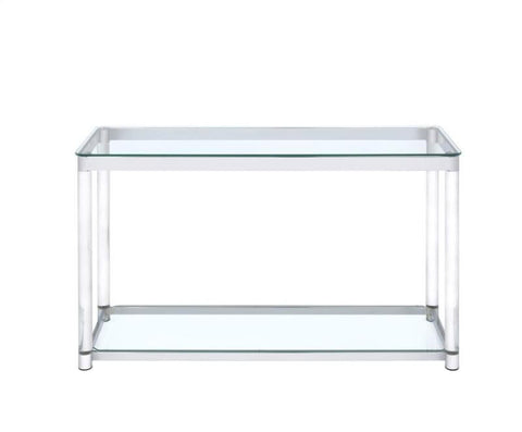 Contemporary Glass Top with acrylic legs Console Table