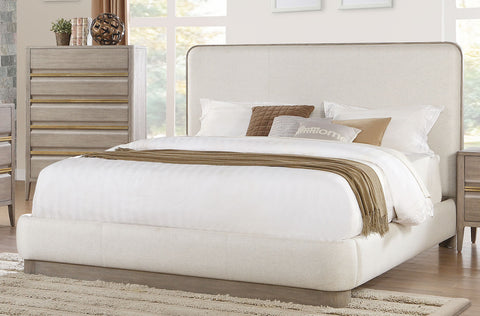 Aristide Modern Fabric Platform Bed