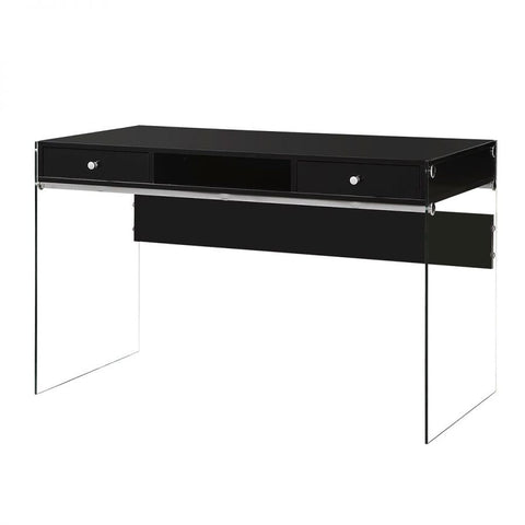 Vanity with transparent glass sides, Black
