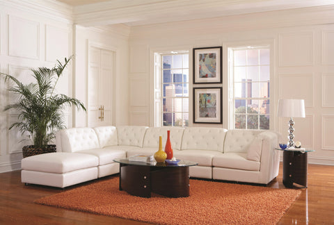 Quinn White 6 PC Sectional Sofa