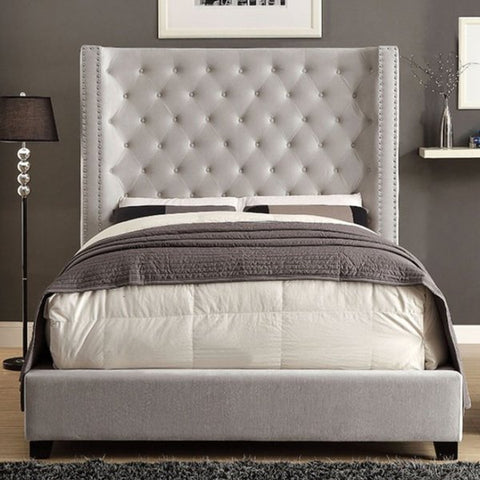 Cierra Upholstered Bed, Ivory