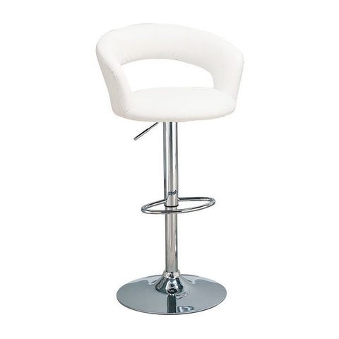 Element White Leatherette Adjustable Swivel Bar Stool