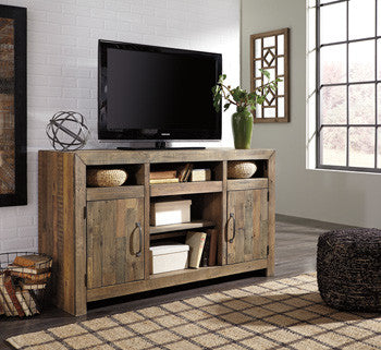 Rustic Planked Top TV Stand