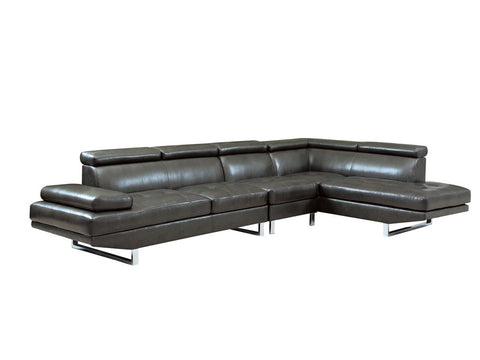 Contemporary Modern Charcoal Grey Sectional