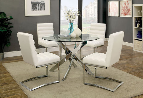 Axis Round Dining Set, White