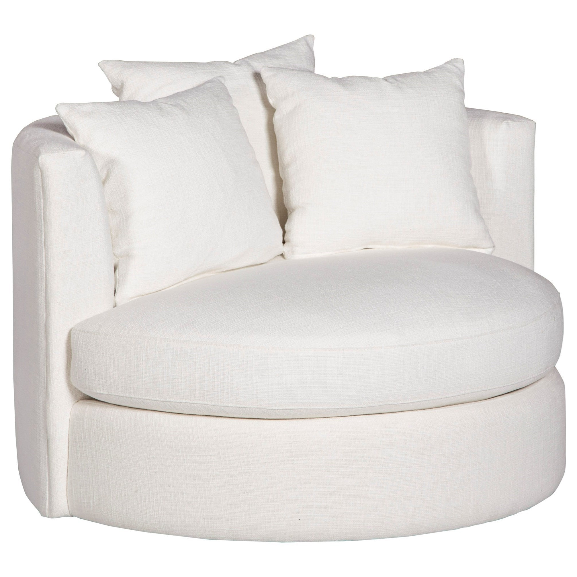Contemporary Round Swivel Chair Choose Your Fabric – Interior