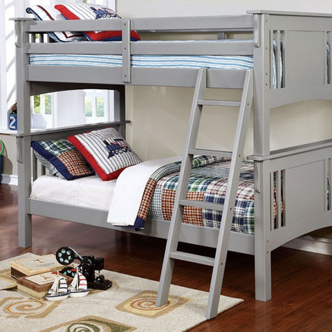 Gray Finish Twin/Twin Bunk Bed