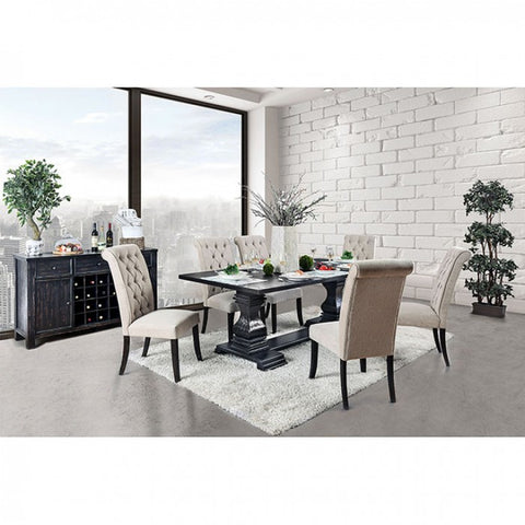 Mindy Dining Set, Antique Black