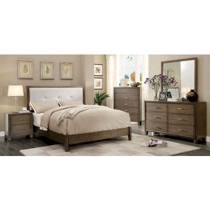 Enrico 4 Pc Bedroom Set, Weathered Gray