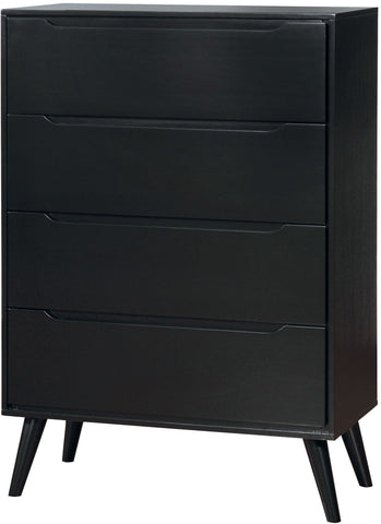 Mid Century Chest, Black