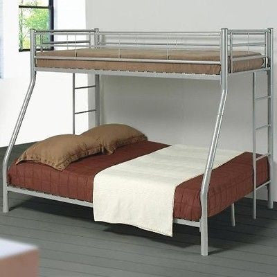 Denley Silver Metal Twin/Full Bunk Bed