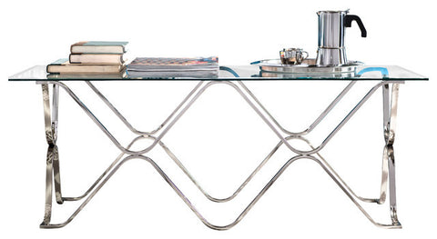 Geometric Coffee Table (Available in Chrome or Champagne Finish)
