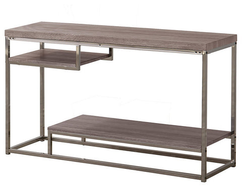 Grey Chrome Frame Console Table